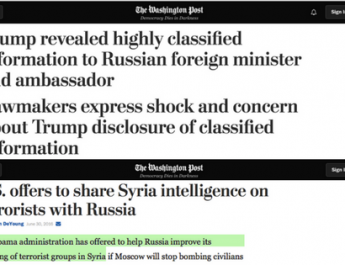 Where was the MSM when Obama tried to share classified information with Russia?